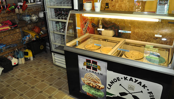 Locally-made ice cream available at Hazelbakers